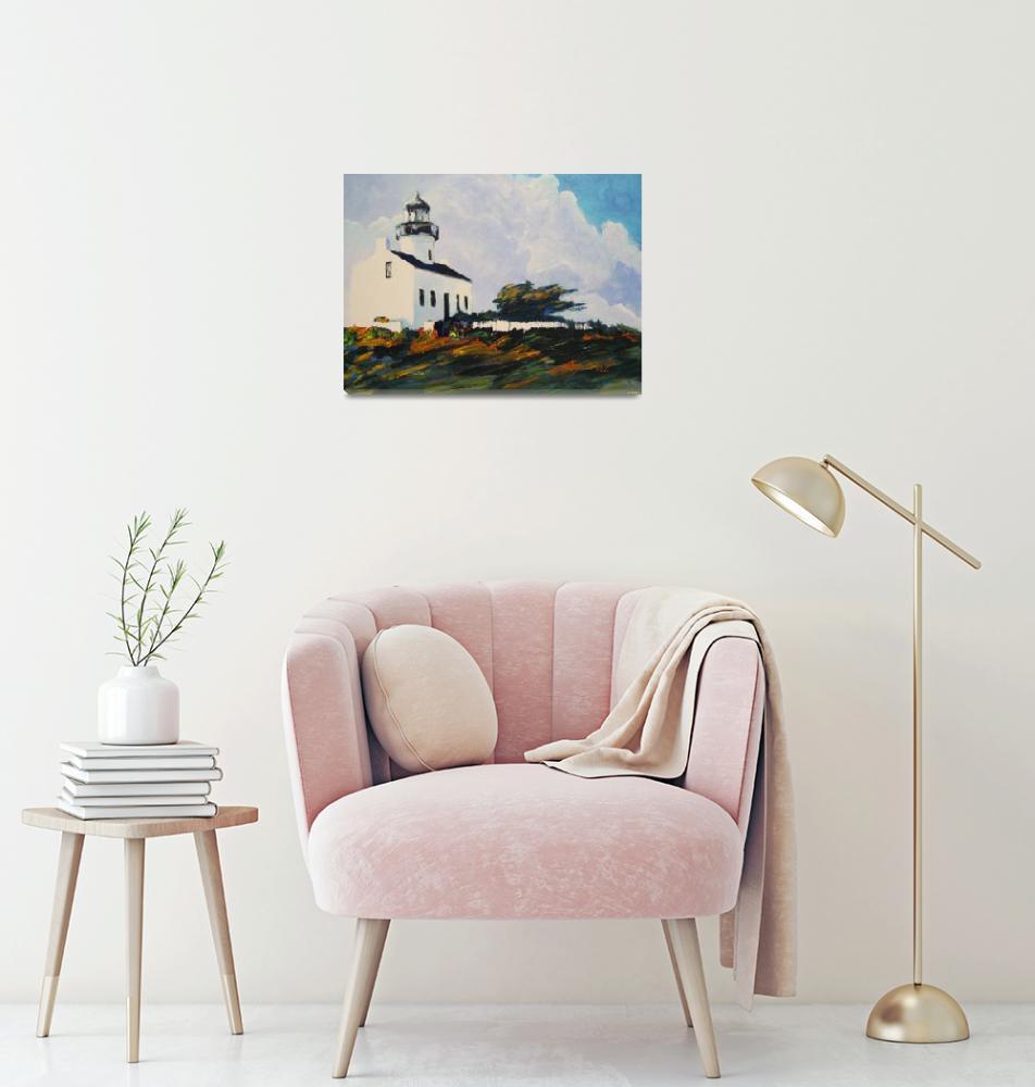 """Point Loma Lighthouse By Riccoboni""  (2008) by RDRiccoboni"