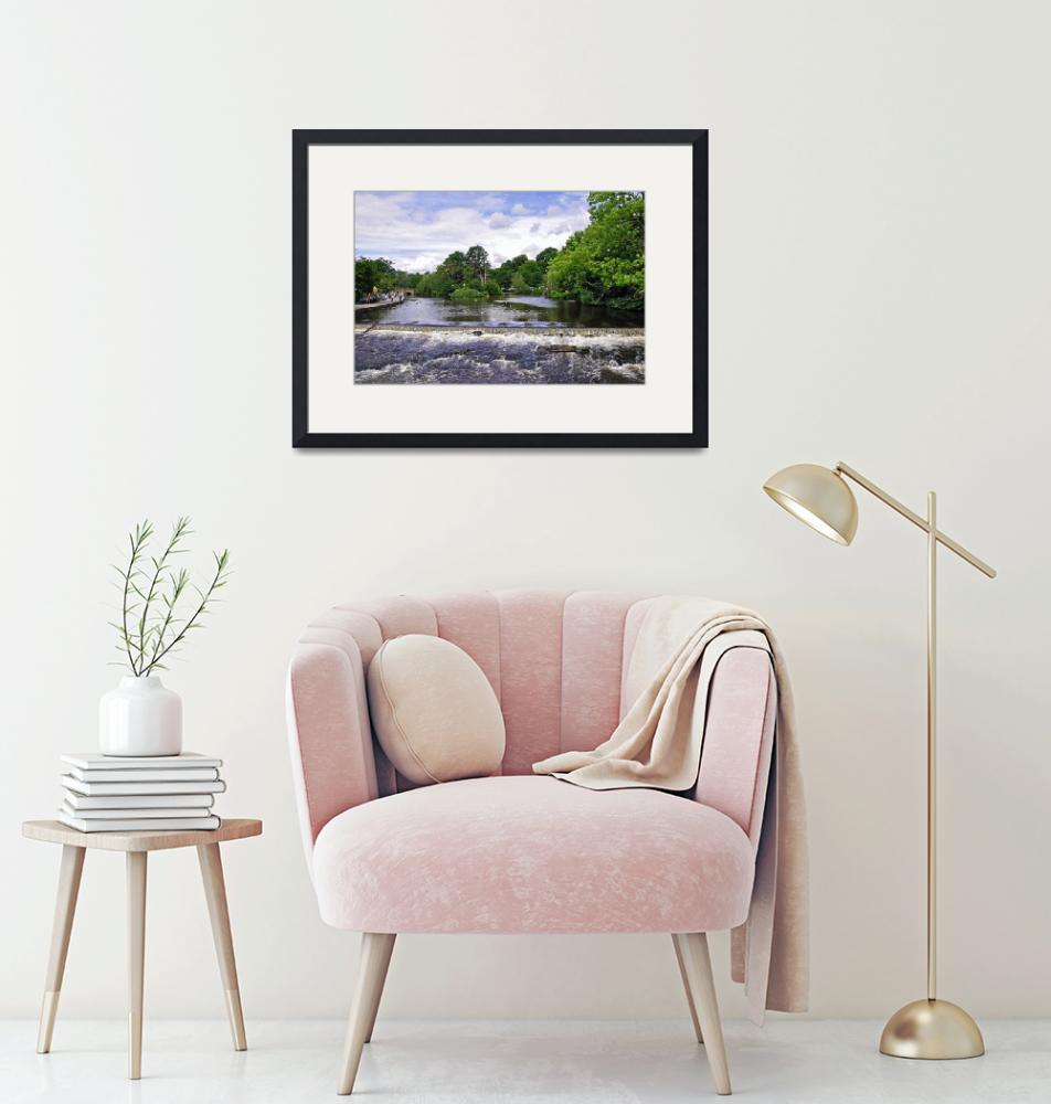 """""""River Wye and Weir, Bakewell  (18583-RDA)""""  (2009) by rodjohnson"""