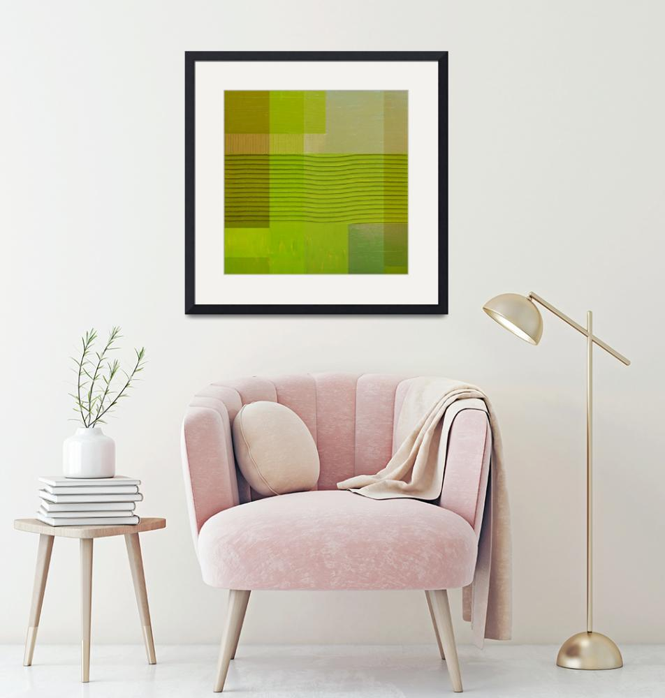 """""""Green with Wavy Stripes""""  (2017) by Michelle1991"""