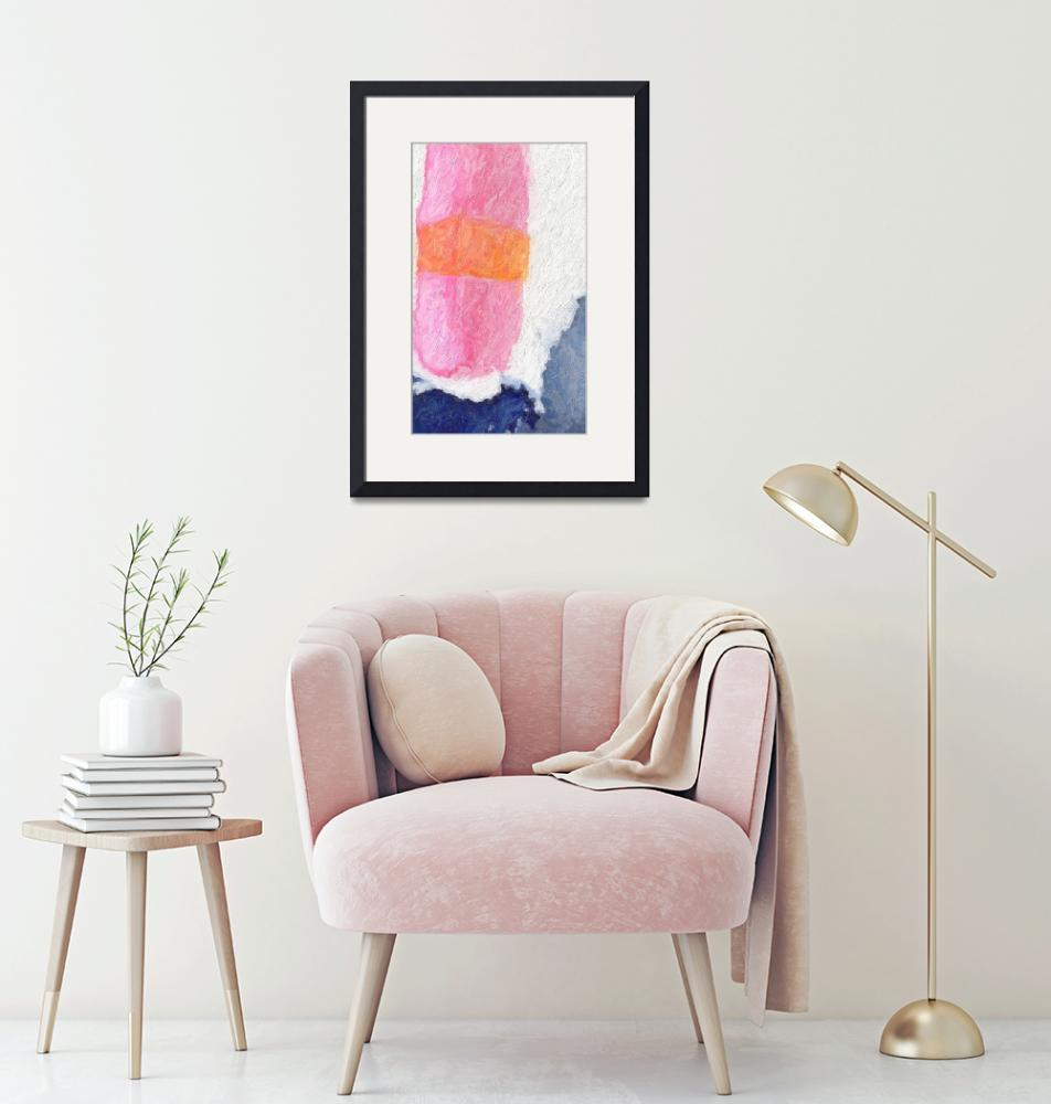 """""""Abstract Minimalist Pink Blue Sushi""""  (2019) by GinetteCallaway"""