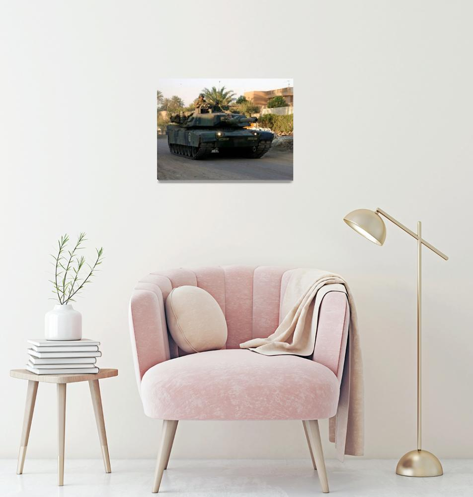 """M 1 Abrams Tank Urban Dawn Patrol""  (2014) by TheNorthernTerritory"