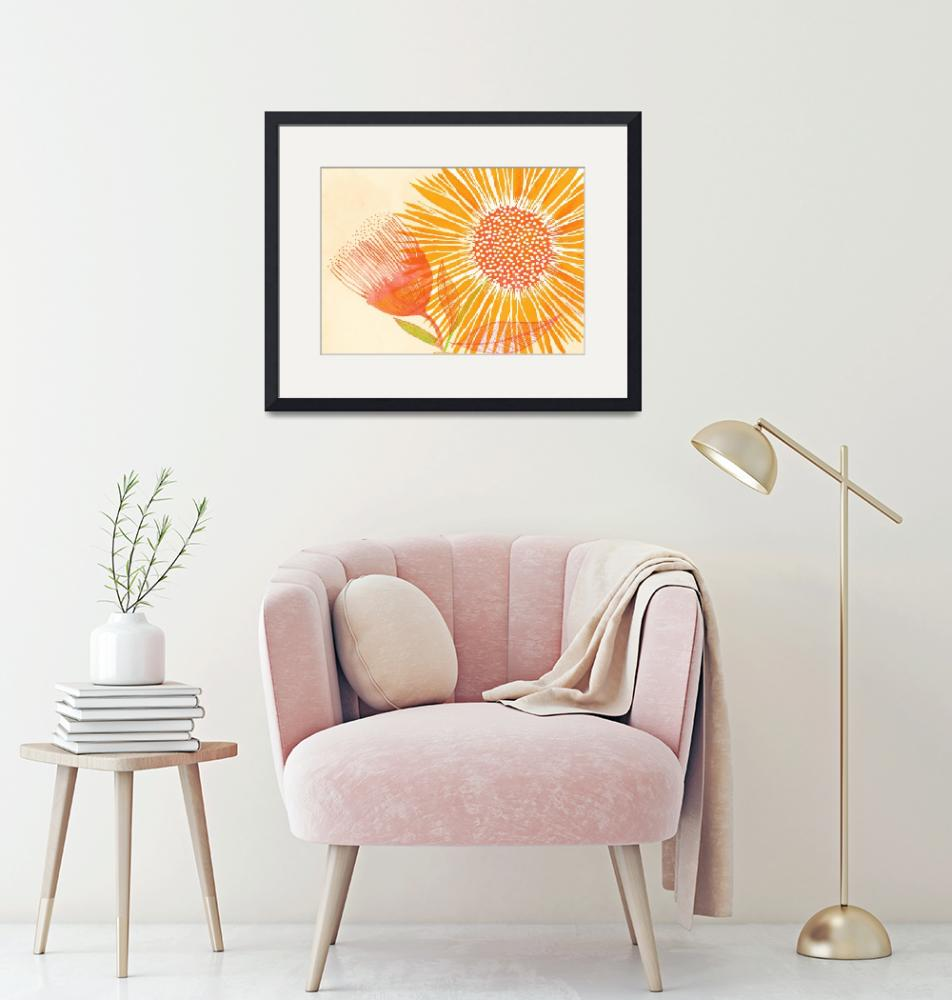 """""""Bright Sunflower""""  (2019) by moderntropical"""