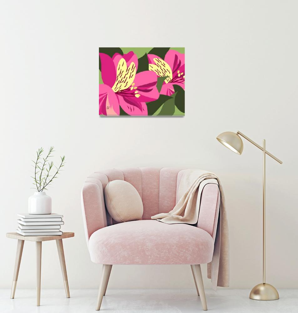 """Contemporary Alstroemeria Art""  by waterart"