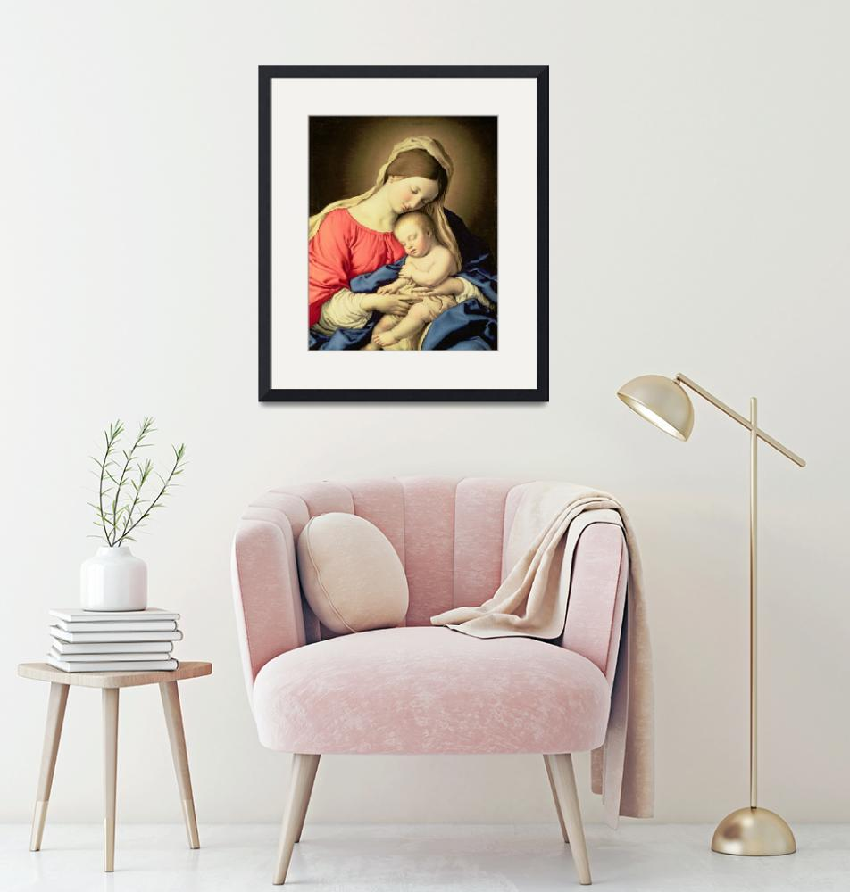 """""""Madonna and Child by Il Sassoferrato""""  by fineartmasters"""