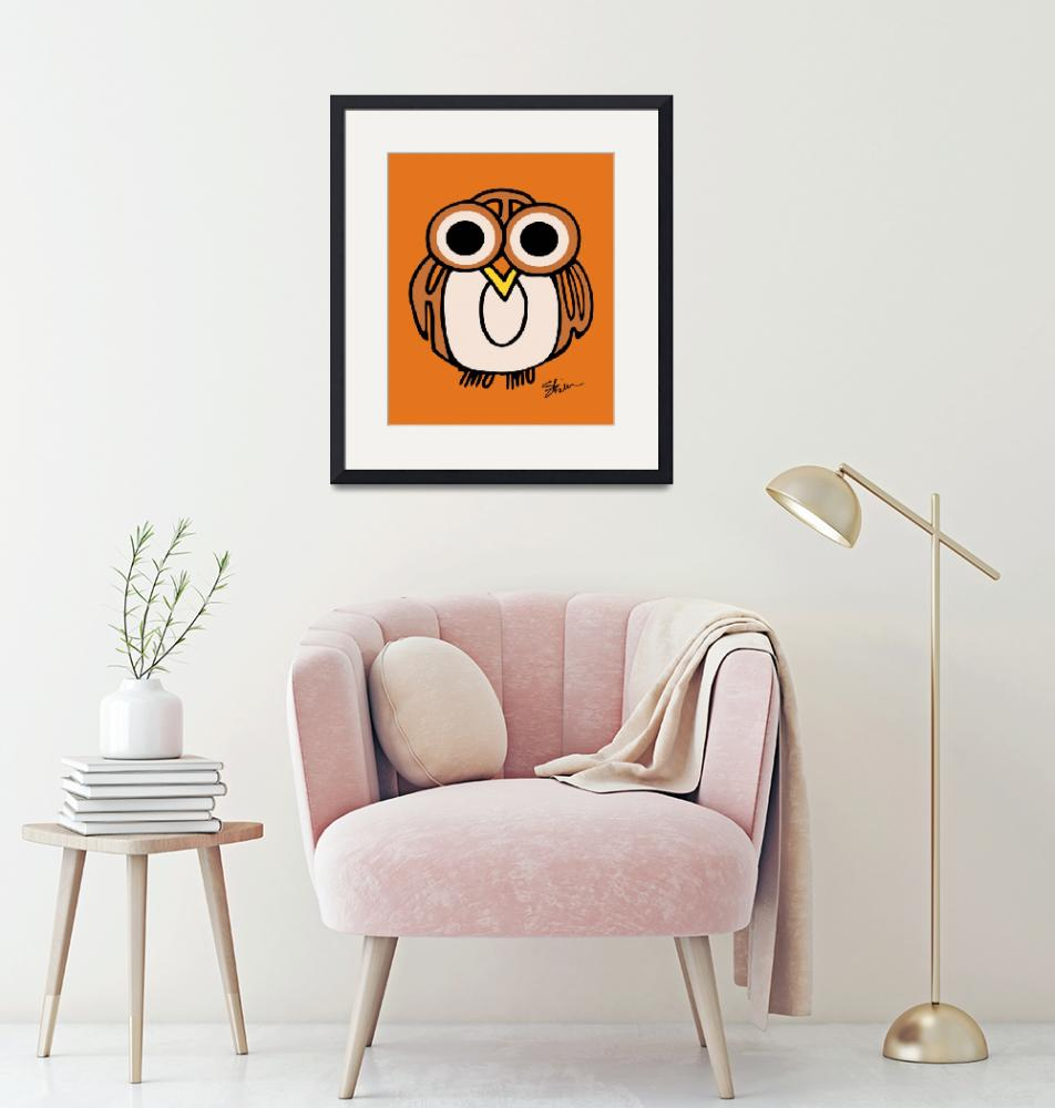 """""""Wide-Eyed Owl Says """"HOOT""""!!"""" (2008) by kristensteinfineart"""