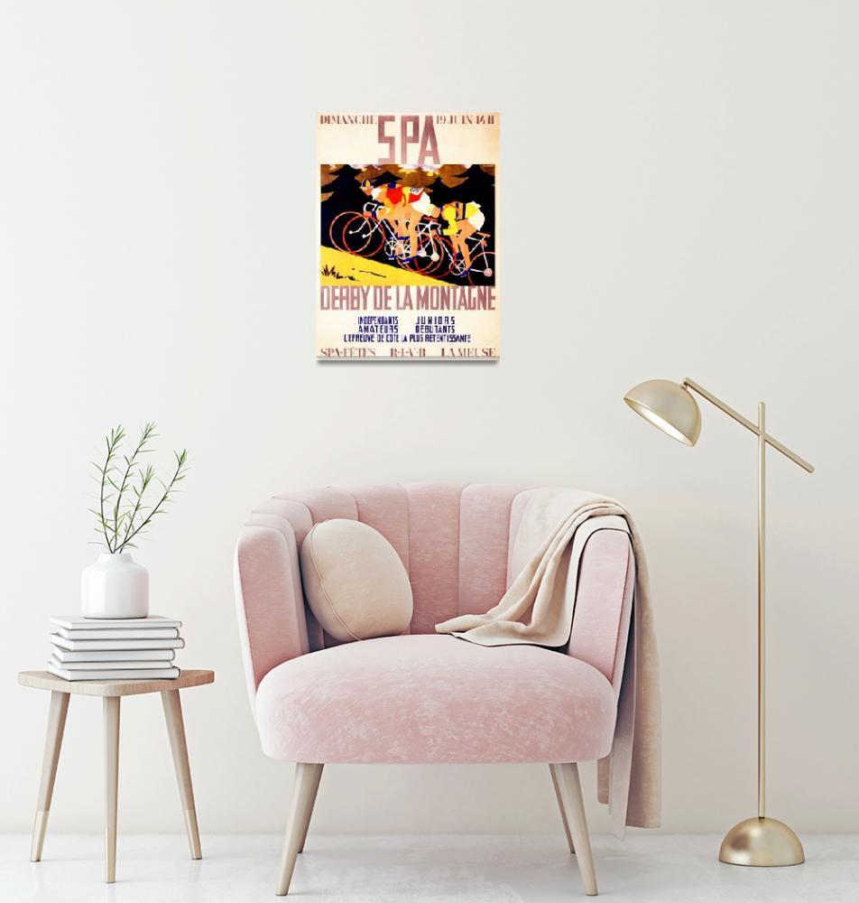 """""""Derby de la Montagne Vintage Bicycle Poster""""  by FineArtClassics"""