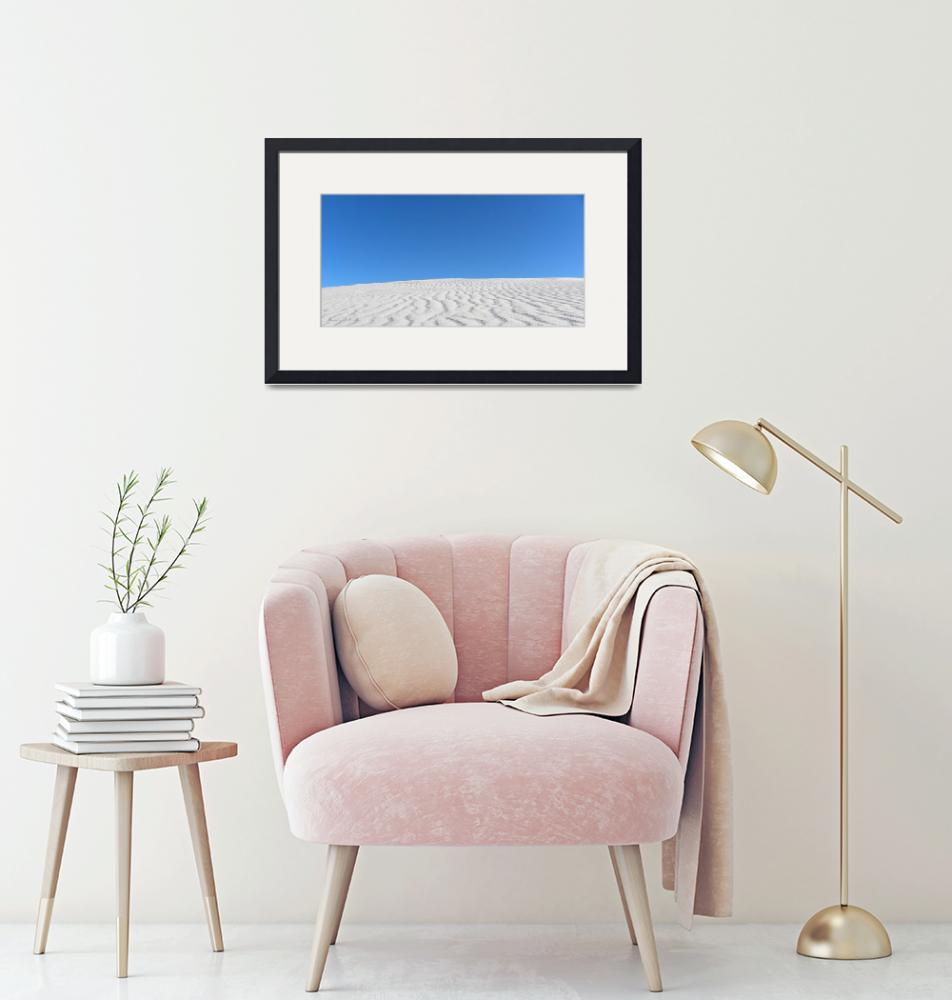 """""""White Sands Blue Sky""""  (2010) by anniepics"""