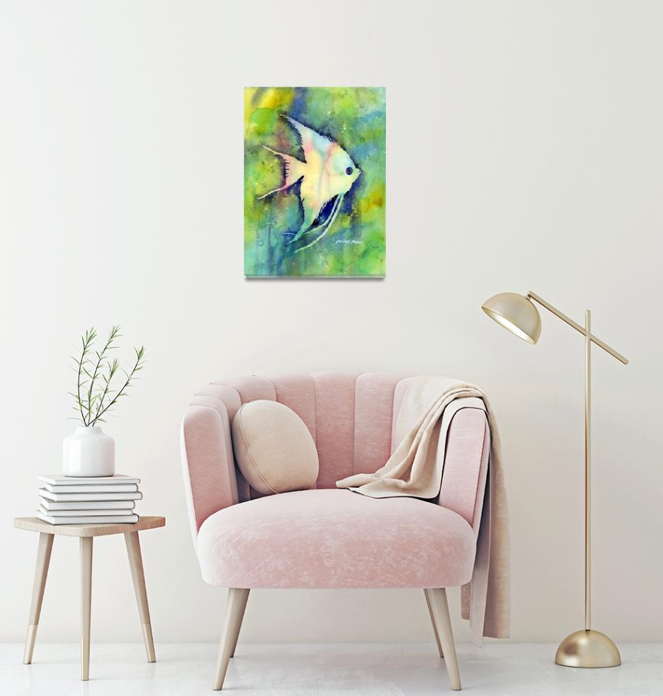 """Angel Fish I""  (2013) by HaileyWatermedia"