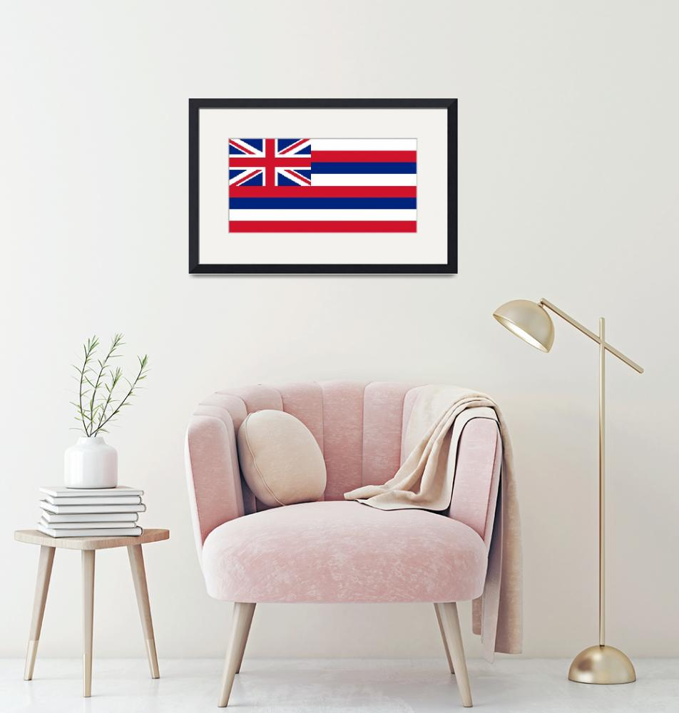 """""""State Flag of Hawaii Authentic 1-2 version""""  (2013) by BruceStanfieldArtist"""
