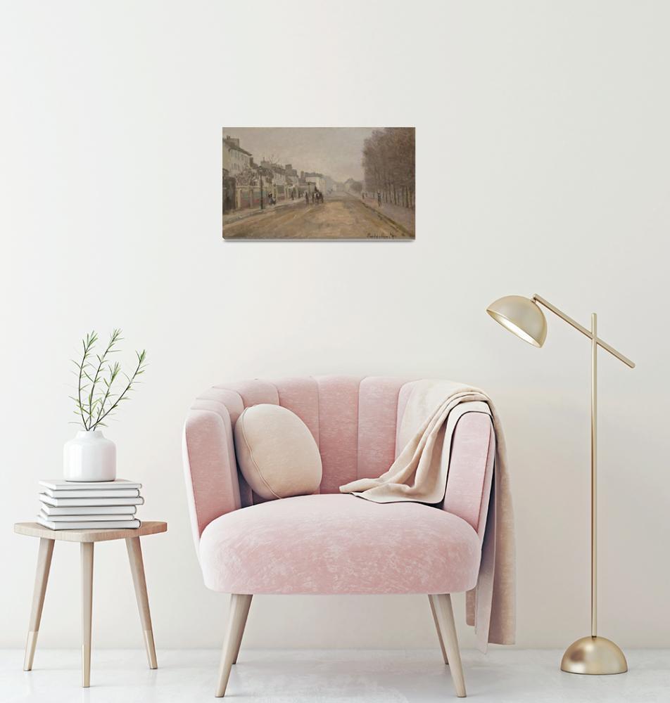 """""""Boulevard Héloise, Argenteuil by Claude Monet""""  by FineArtClassics"""