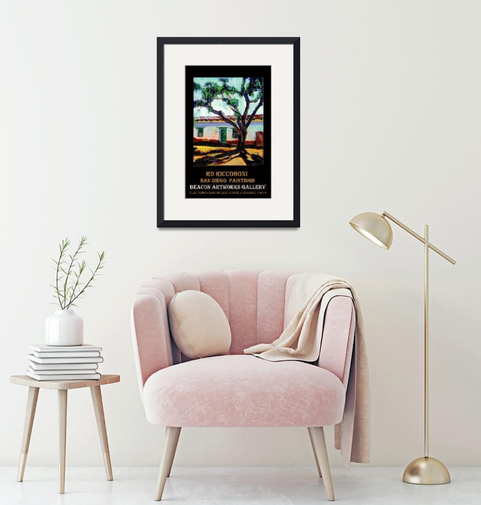 """""""Peppertree in Old Town San Diego poster""""  (2006) by RDRiccoboni"""