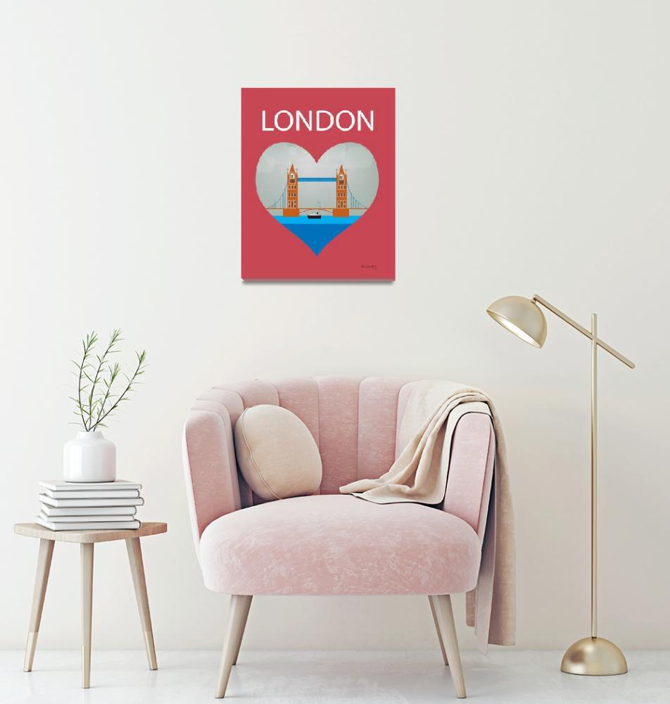 """London, England Heart""  (2011) by loosepetals"