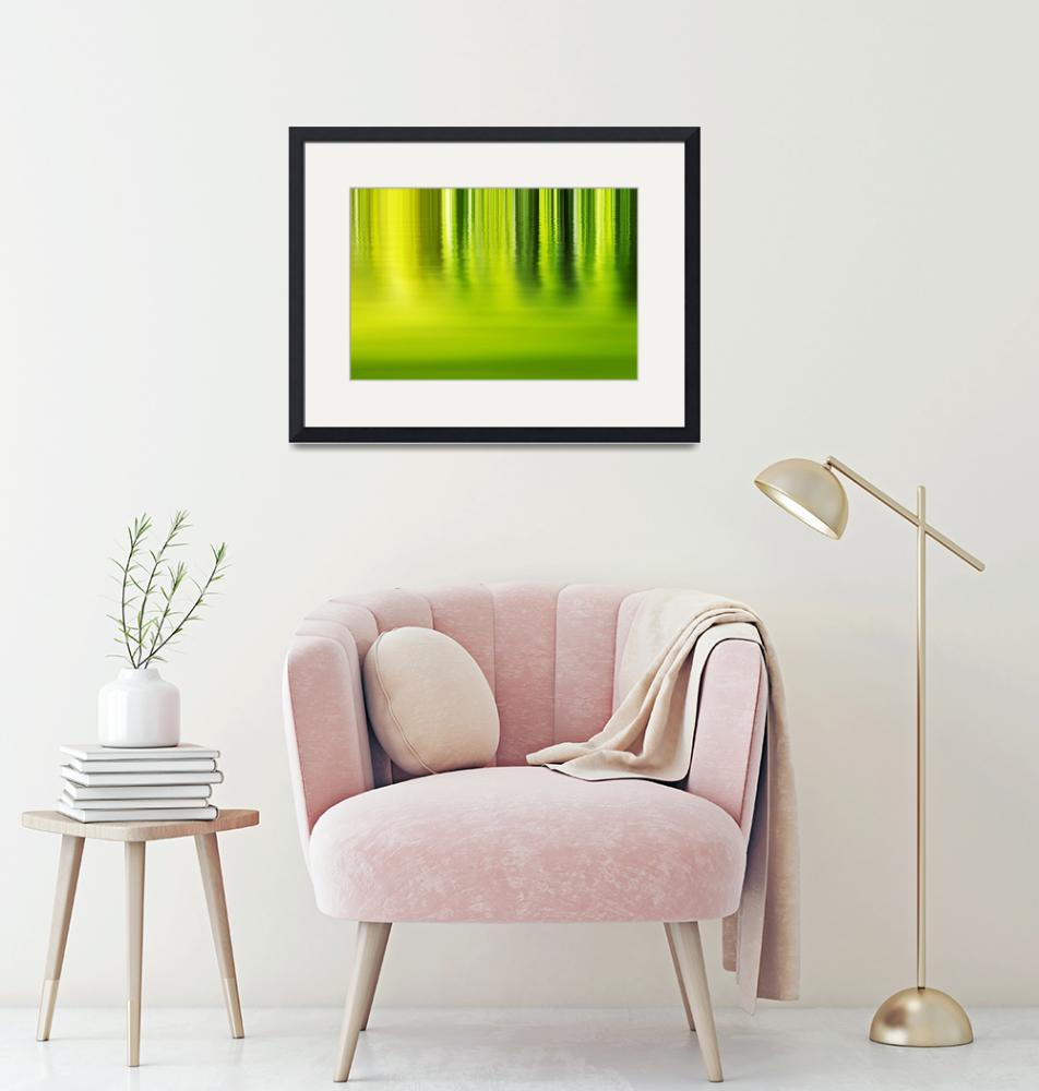 """""""Shadow and light - abstract green background""""  by Fraenks"""