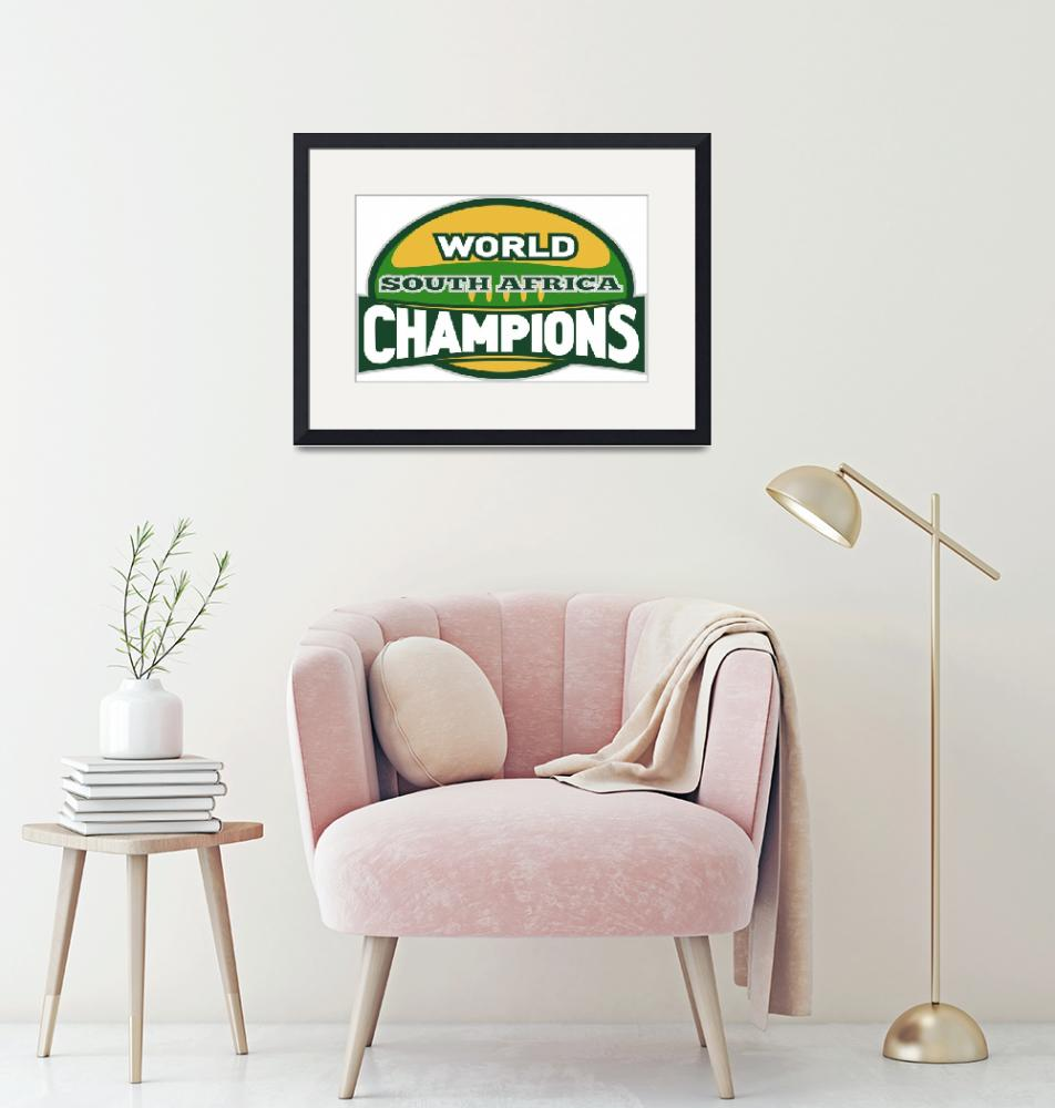 """""""rugby ball world champions south africa""""  (2013) by patrimonio"""