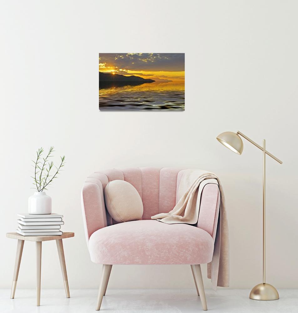 """sunset reflection""  by johnrochaphoto"