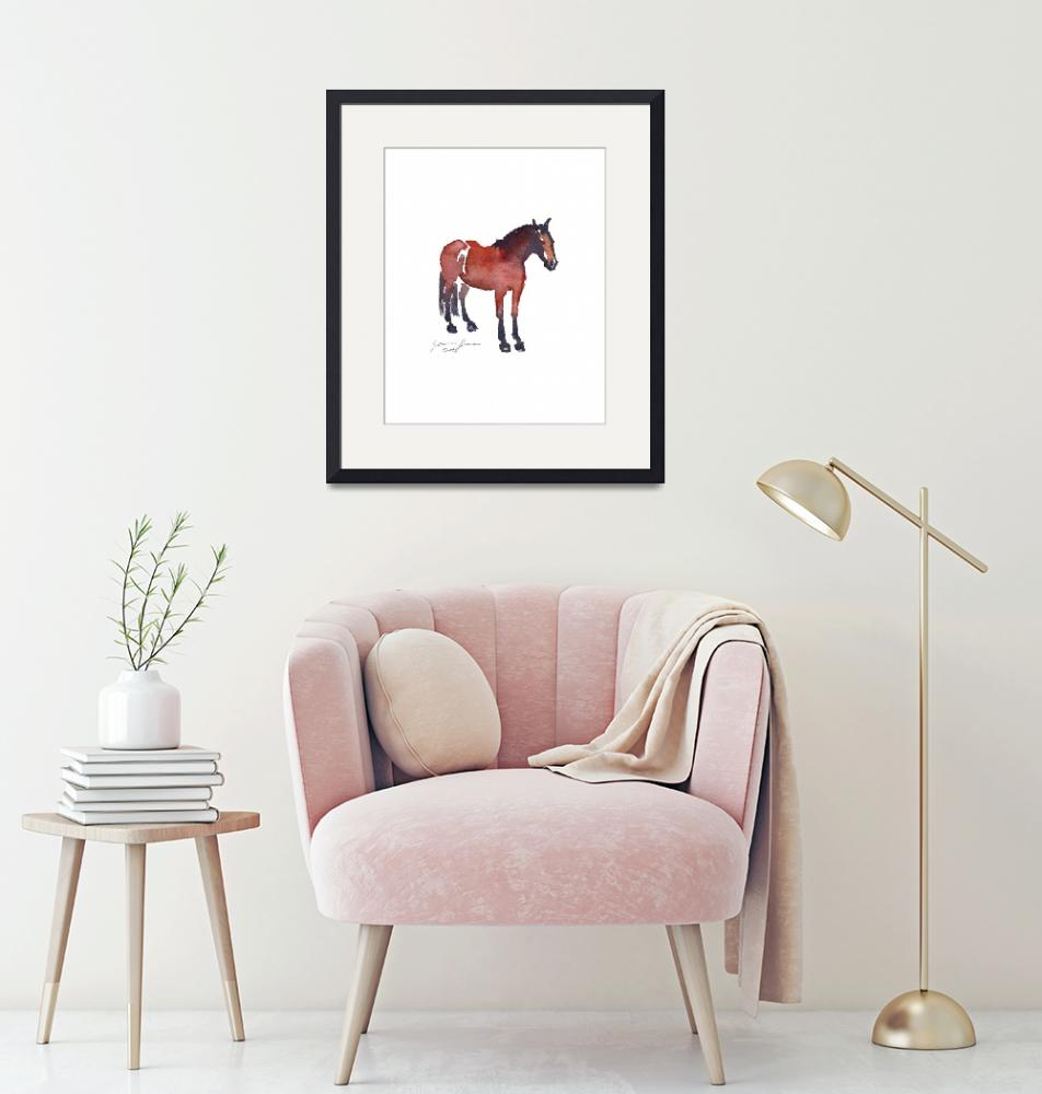 """""""Red and Purple Resting Horse""""  (2018) by JeanneRewa"""