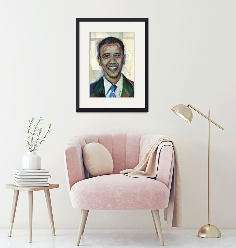 """Elect Barack Obama in 2008! Oil Pastel""  (2008) by noelhefele"