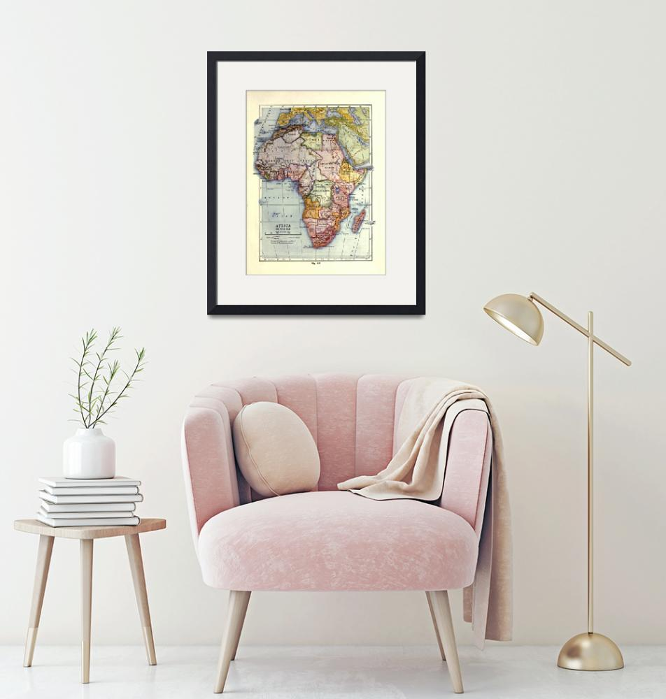 """""""Vintage Africa Map (1921)""""  by Alleycatshirts"""