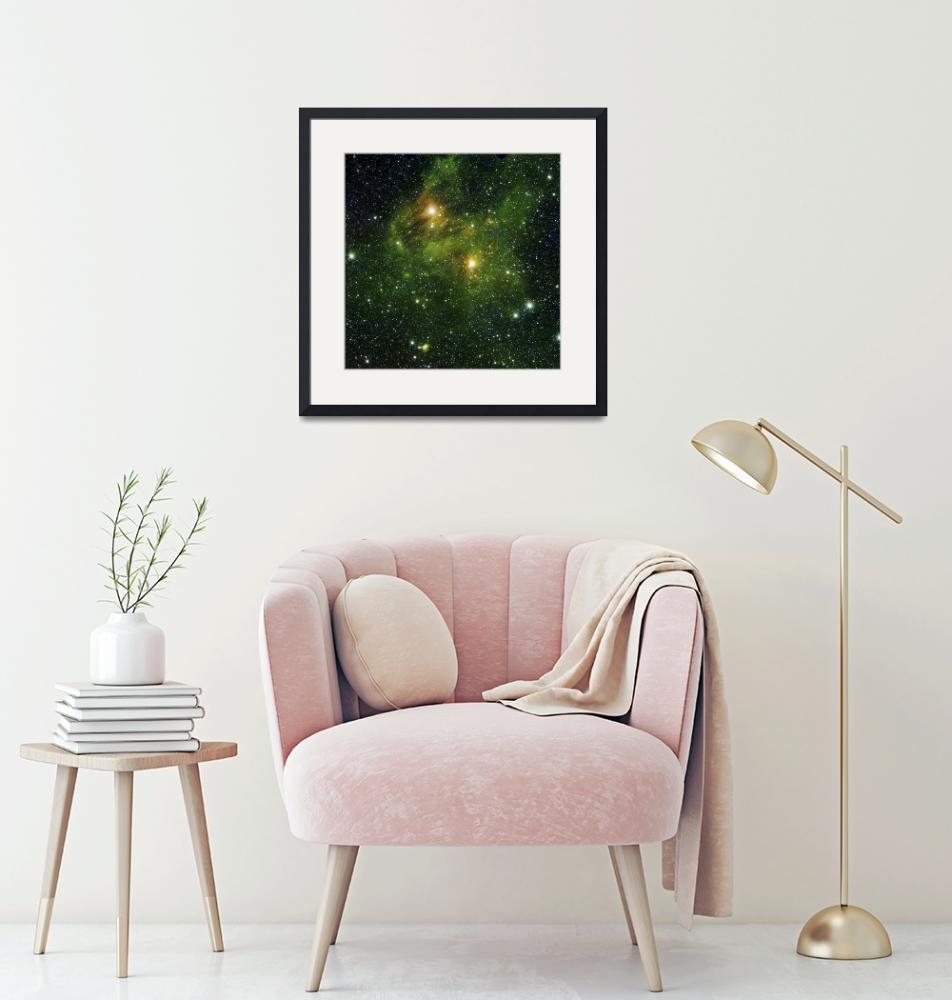 """""""Two extremely bright stars illuminate a greenish m""""  by stocktrekimages"""