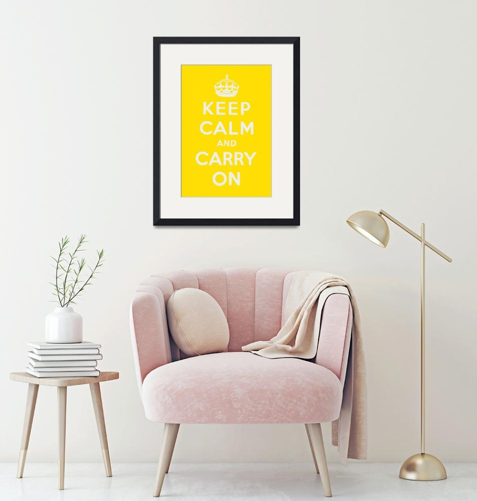"""""""Yellow Keep Calm And Carry On 1""""  by oldies"""