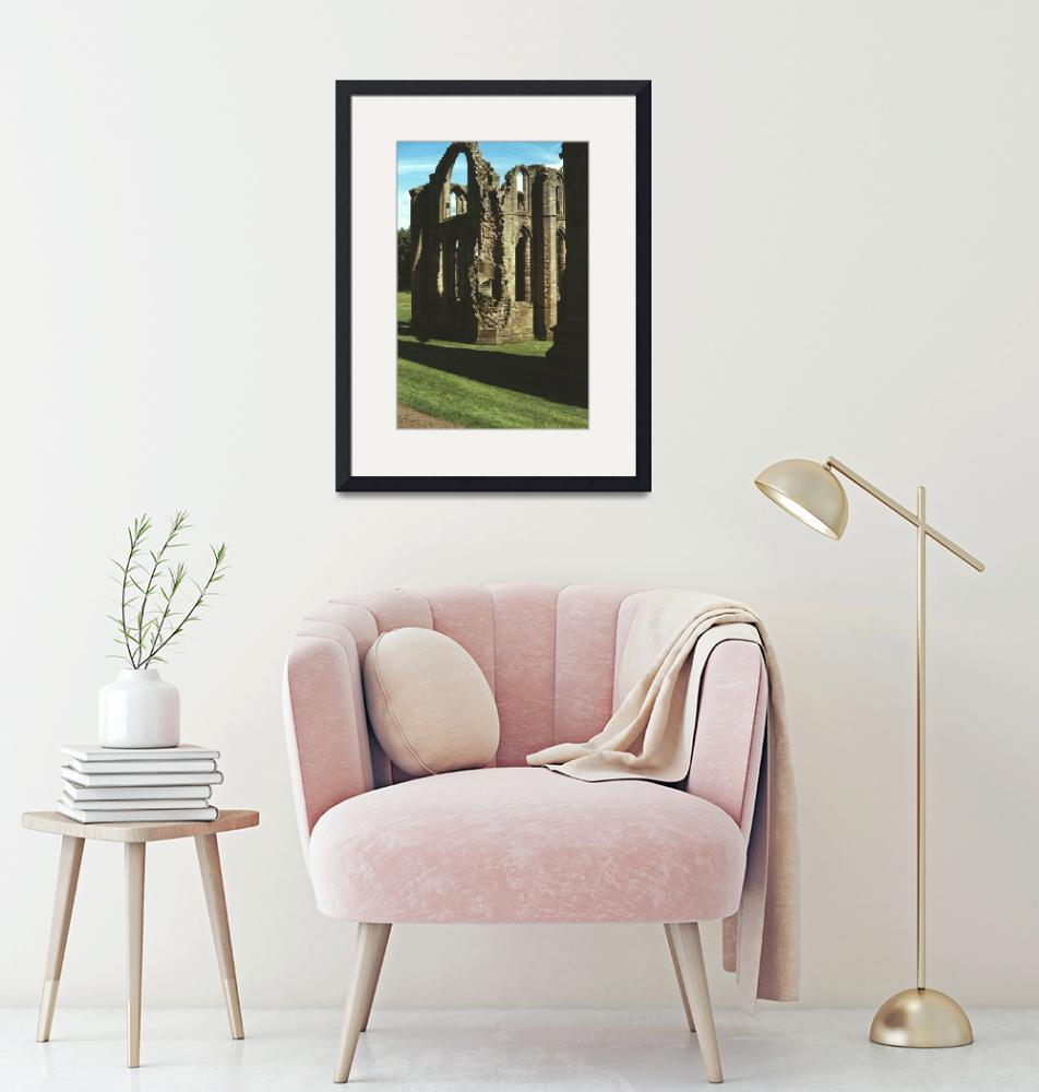 """Fountains Abbey in Summer 3""  (1990) by PriscillaTurner"