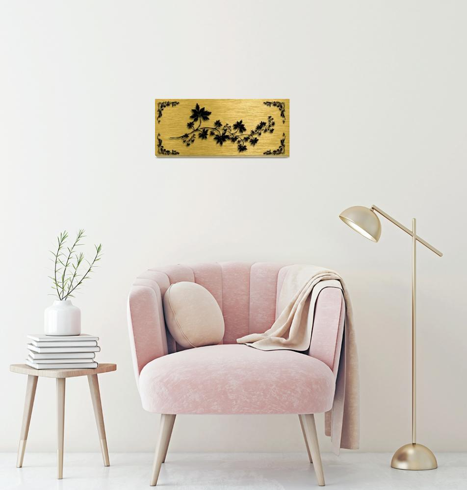 """""""Gold illustration for interior 6""""  (2019) by Radiant"""