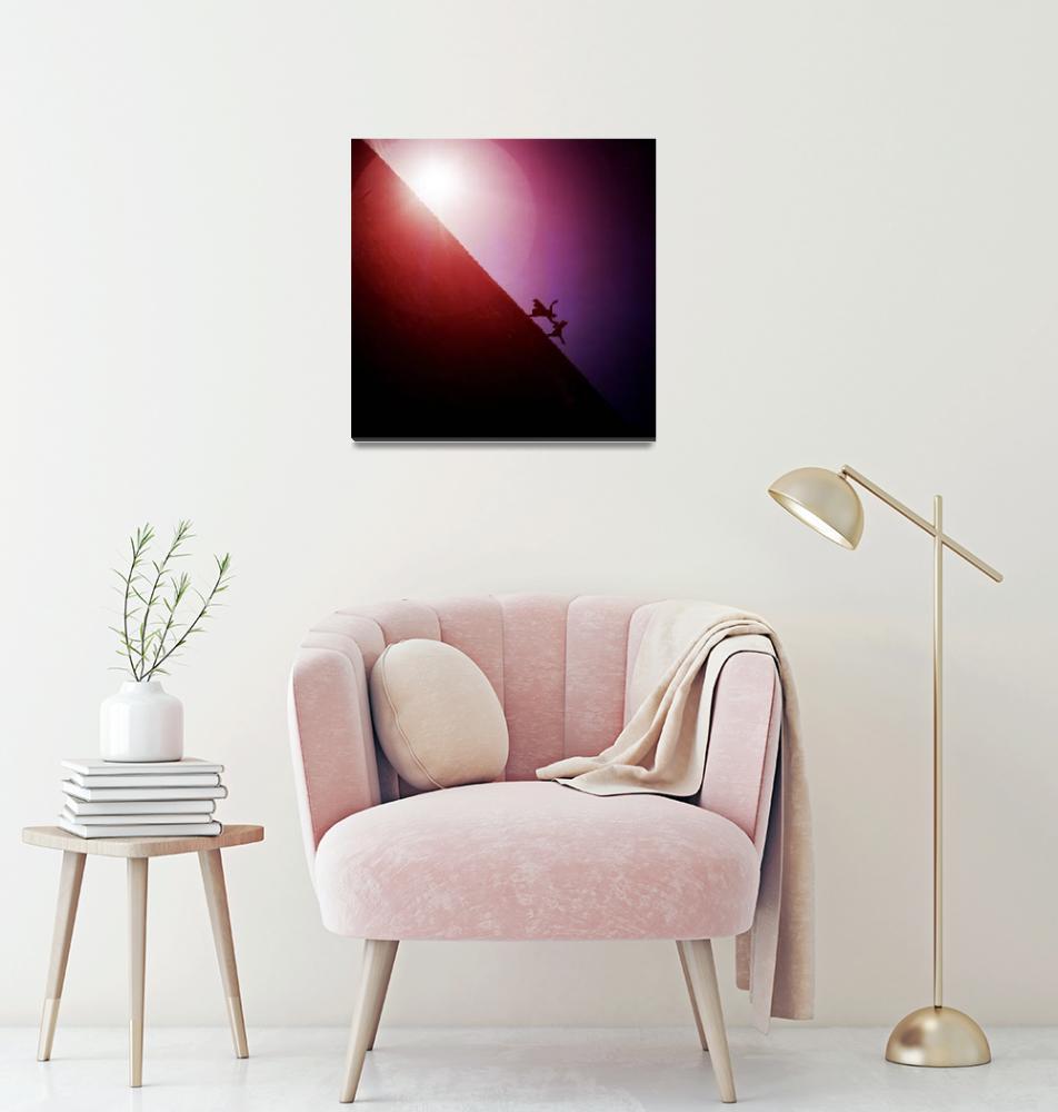 """Red purple diagonal surrealist photo""  (2008) by edwardolive"