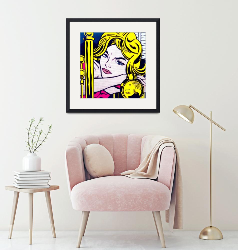 """Blonde Waiting 1964 - Roy Lichtenstein""  (2018) by BritishYank"