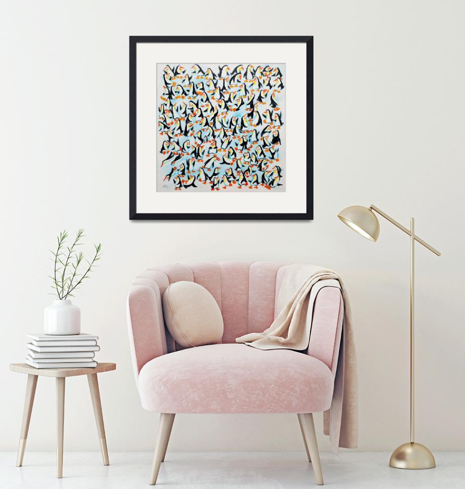 """""""100 Penguins""""  (2009) by sophiegreen"""