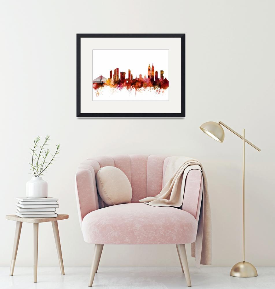 """Mumbai Skyline India Bombay""  (2018) by ModernArtPrints"