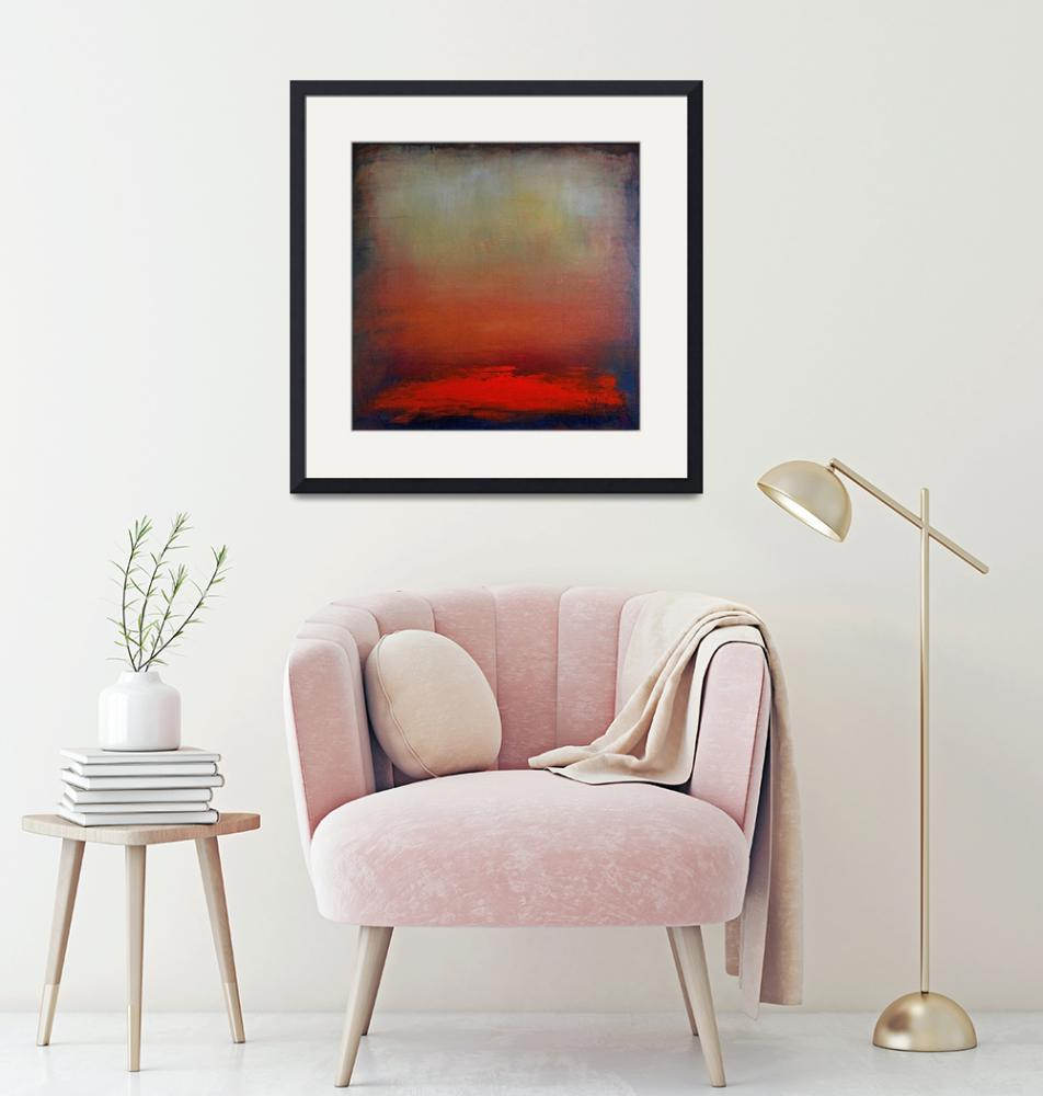 """""""Hazy Abstract Sunset (Square)""""  (2009) by kristensteinfineart"""