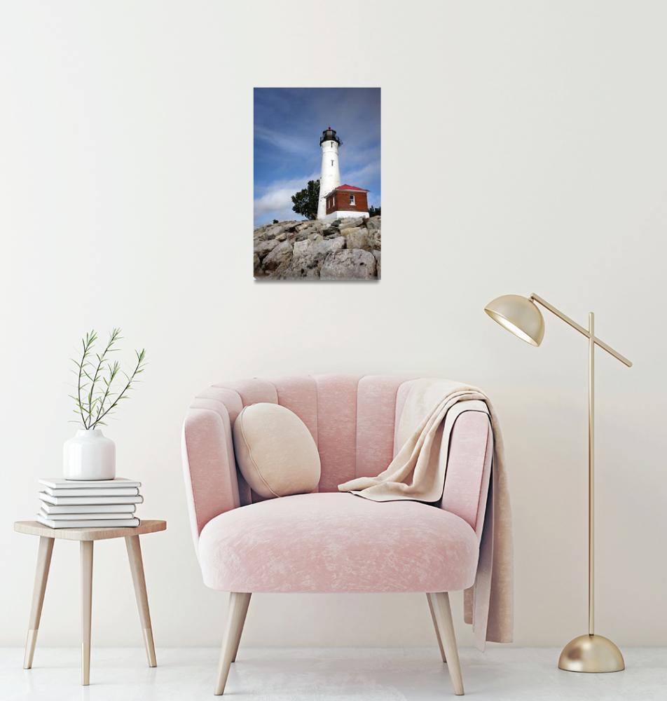 """""""Crisp Point Lighthouse""""  (2009) by cfoxtrot"""