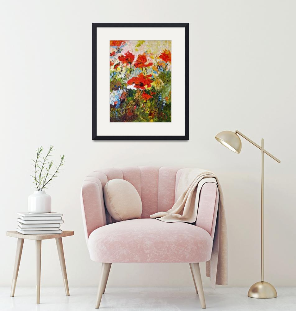 """""""Poppies Provence Summer Garden Impressionism""""  (2015) by GinetteCallaway"""