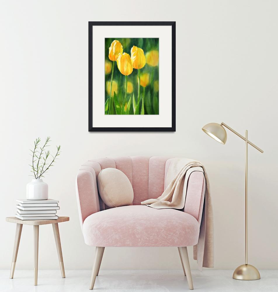 """yellow tulips""  (2011) by Pacific-NW-Watercolors"