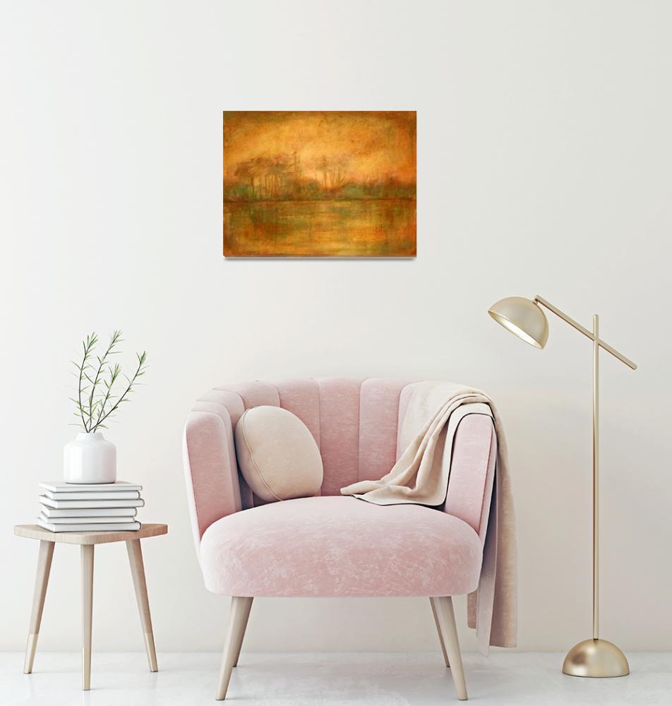 """Contemporary Landscape painting ""Quiet Glow""""  (2009) by studiocicero"