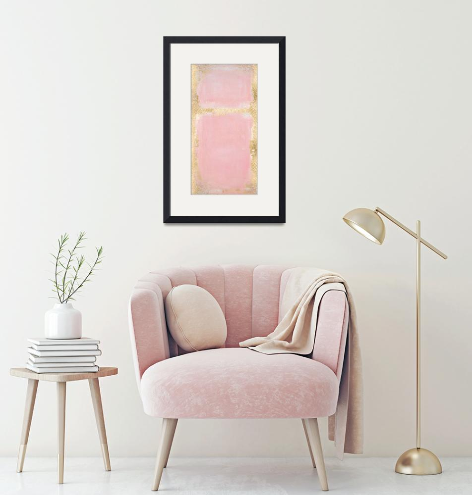 """""""Pink And Gold Abstract Art Painting""""  by fineartgallery"""
