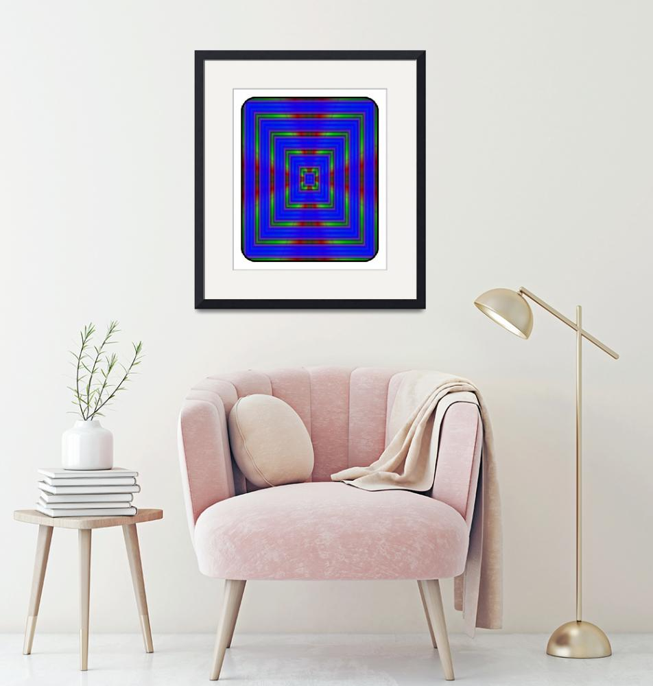 """""""Blue Square""""  (2017) by RitchardMifsud"""