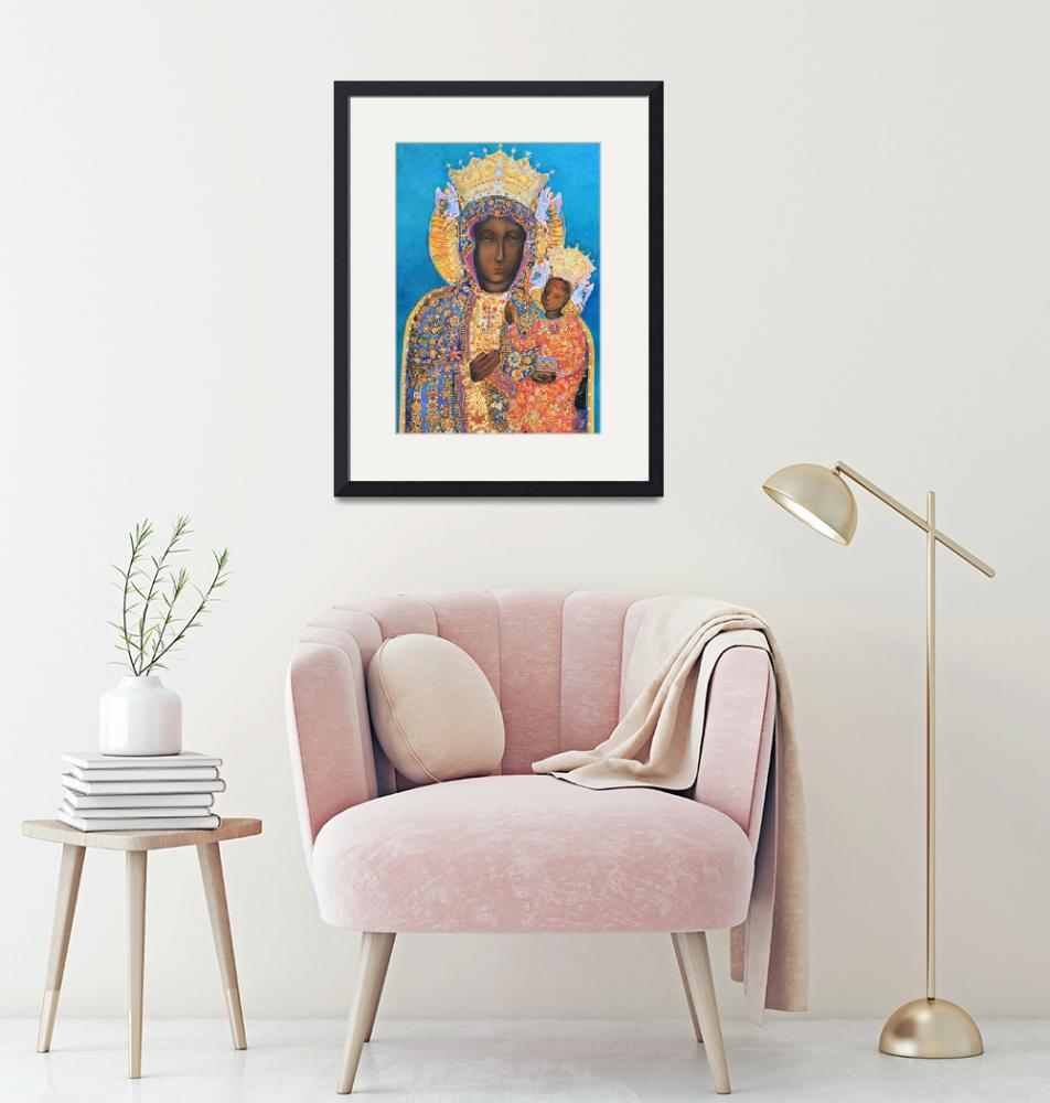 """""""Black Madonna and Child Our Lady of Czestochowa""""  (2016) by Maggy"""