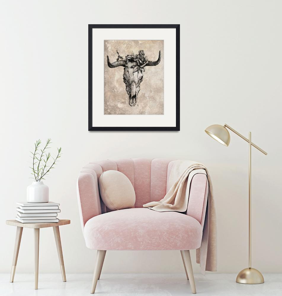 """""""Bull skull and rose"""" by EmericoStyle"""