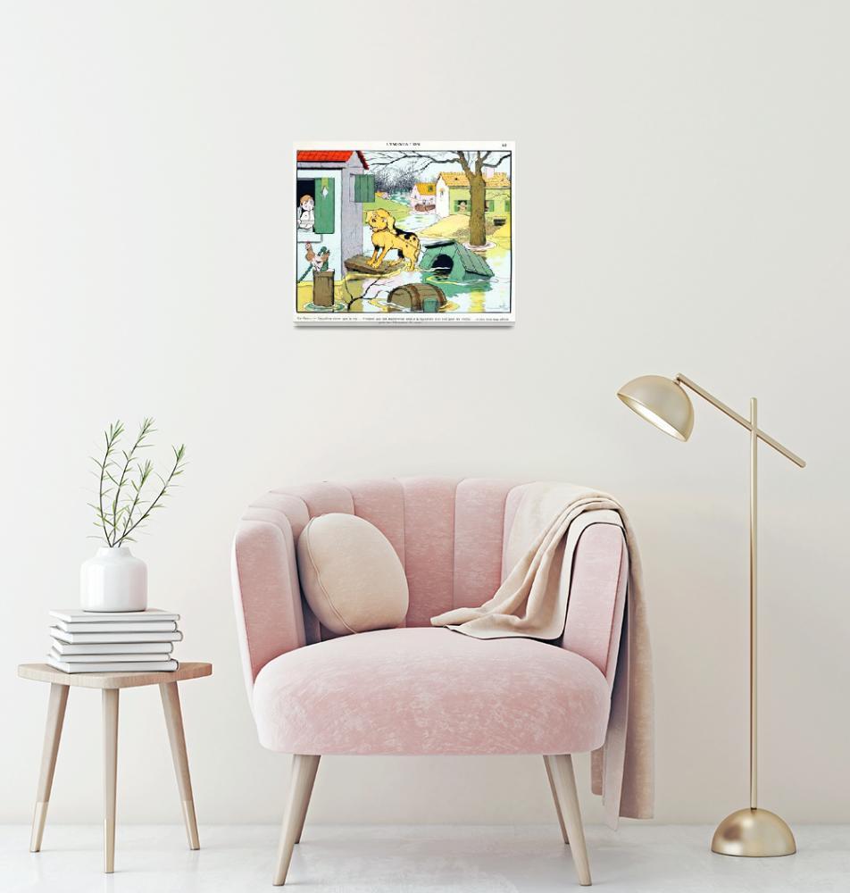 """Vintage French Poster Framed Print""  by buddakats1"