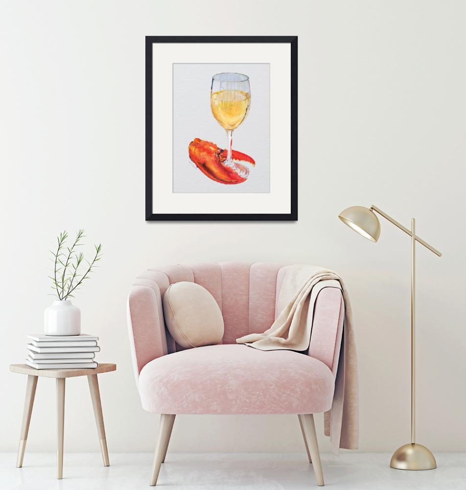 """""""Lobster Claw and Wine""""  (2012) by dominicwhite"""