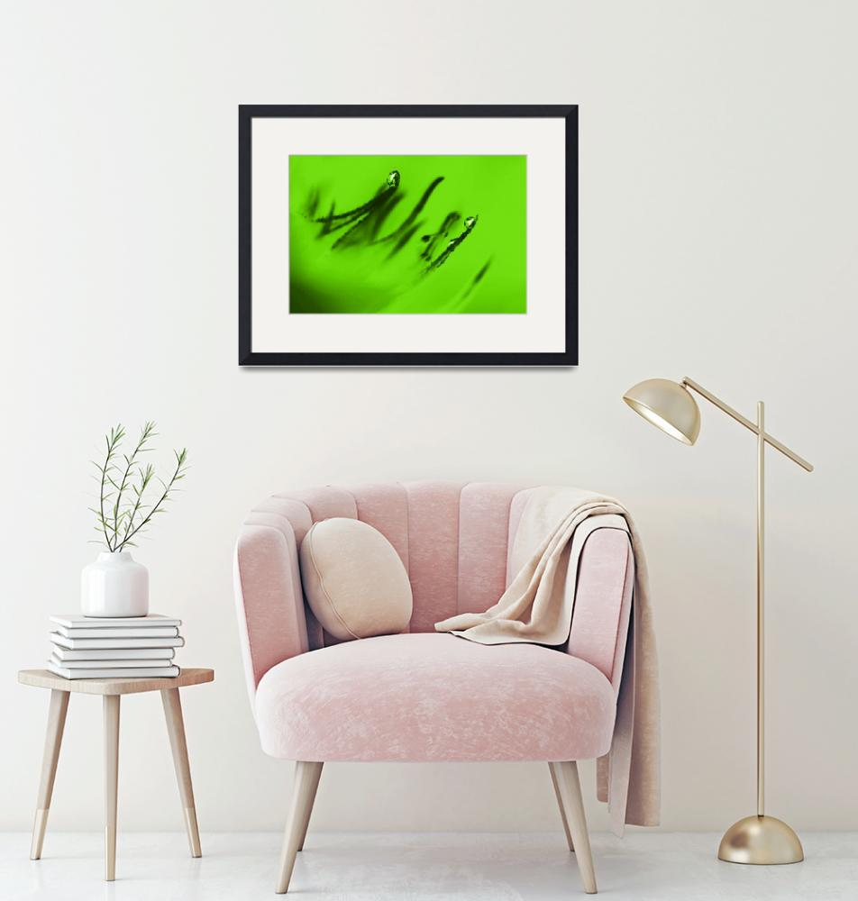 """""""Water Droplets Abstract in Lime Green""""  (2009) by NatalieKinnear"""