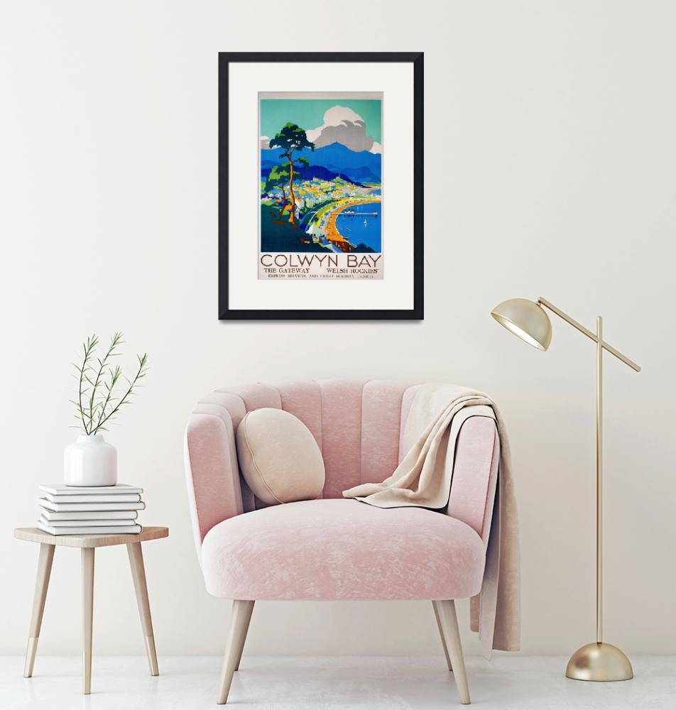 """Colwyn Bay, Wales Vintage Travel Poster""  by FineArtClassics"