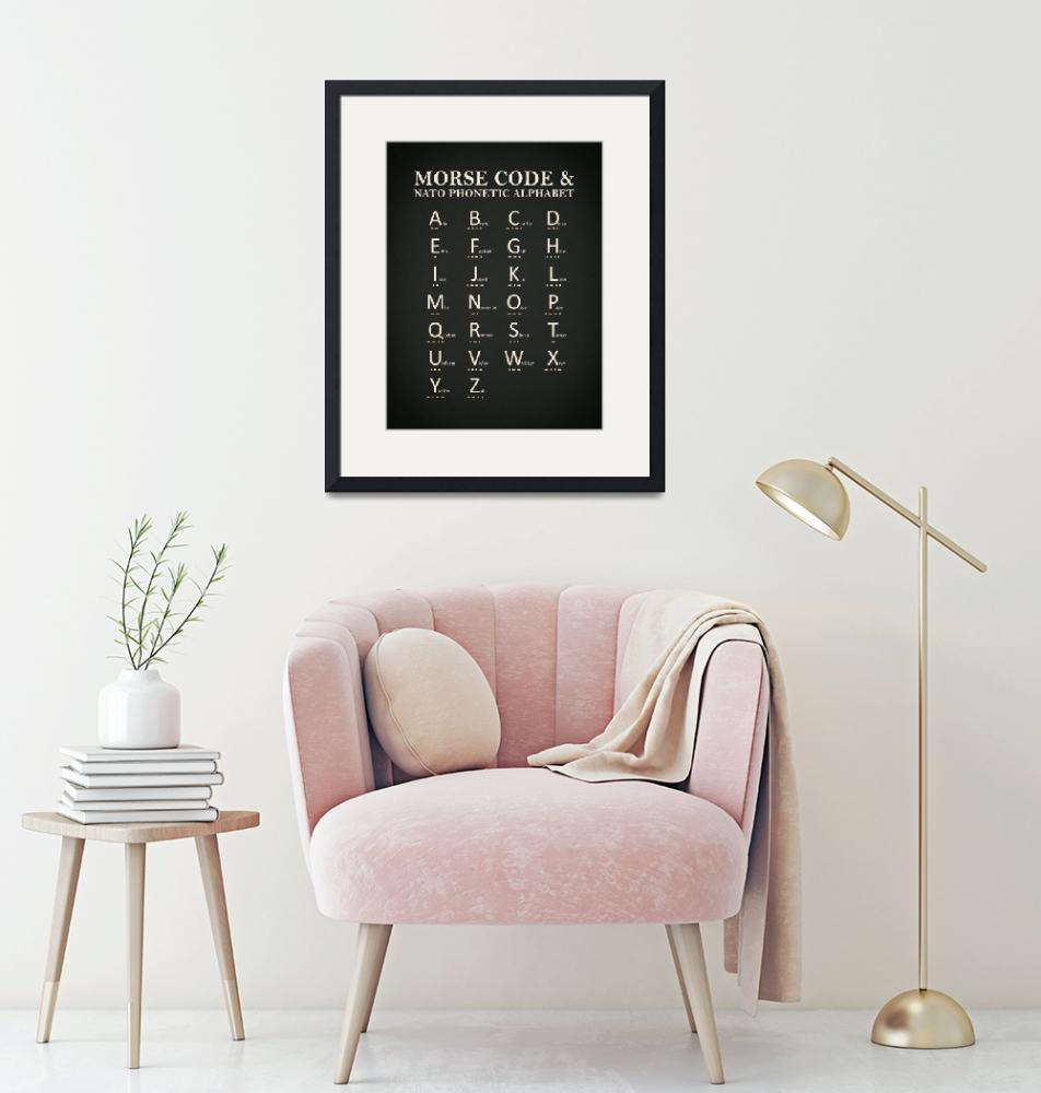 """Morse Code And Phonetic Alphabet""  by mark-rogan"