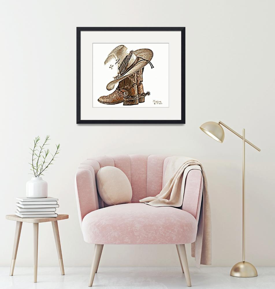 """""""Boots, Hat & Spurs""""  (2016) by davegafford"""