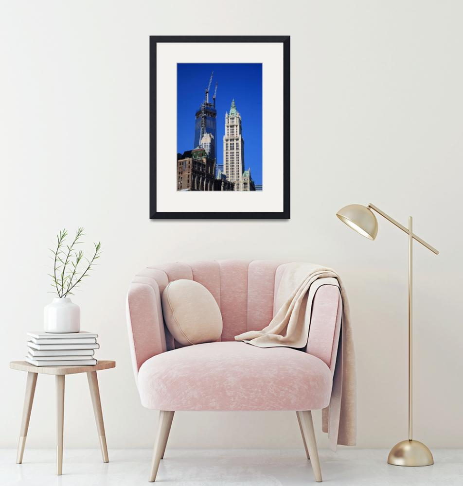 """""""Freedom Tower and Woolworth Building 2013""""  (2013) by Ffooter"""