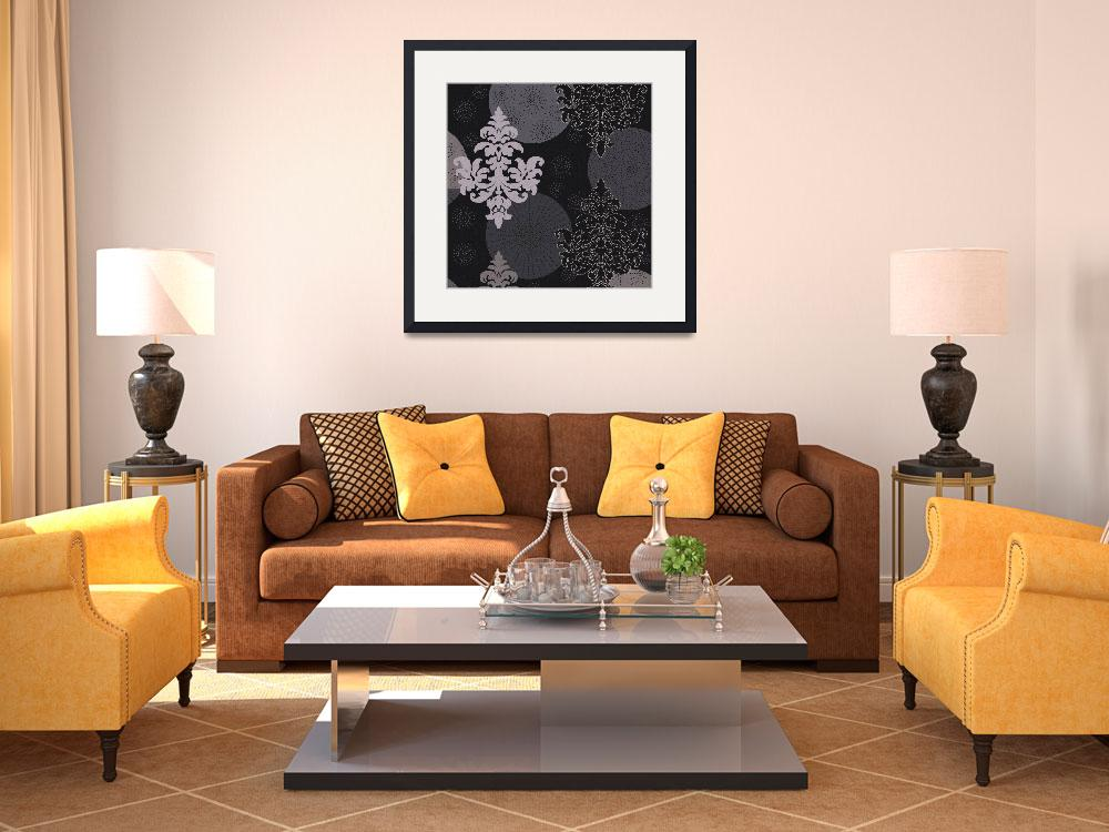 """""""black and white damask&quot  (2008) by da-design"""