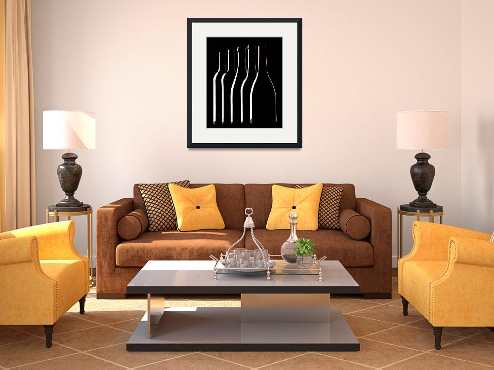"""Wine Bottle Silhouettes&quot  (2006) by winecountrycreations"