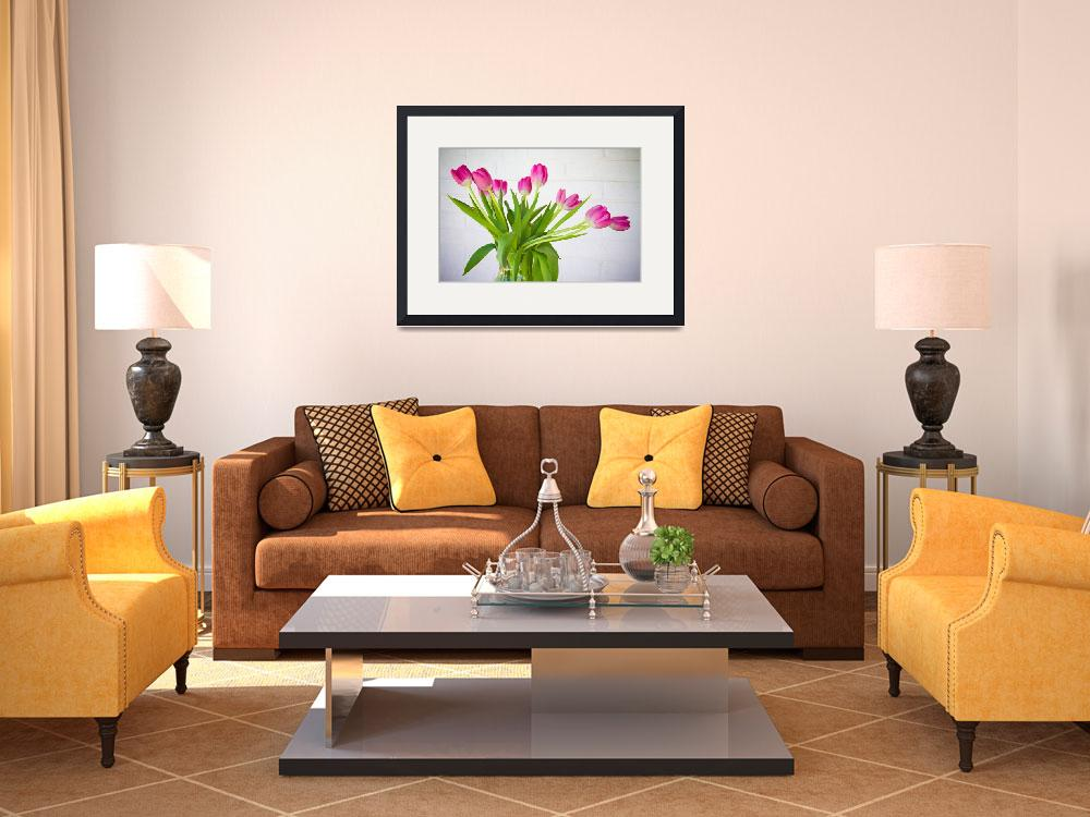 """""""Pink Tulips in a Vase&quot  (2011) by lightningman"""