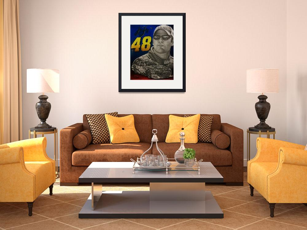 """Jimmy Johnson #48 Nascar&quot  (2011) by JeremyBayliss"